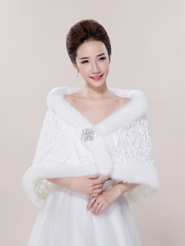 Ericdress Elegant Faux Fur Wedding Wrap