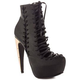 Ericdress Unique Lace up High-heel Boots