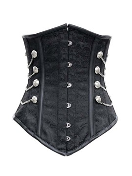 Ericdress Black Underbust Chain Design Corset