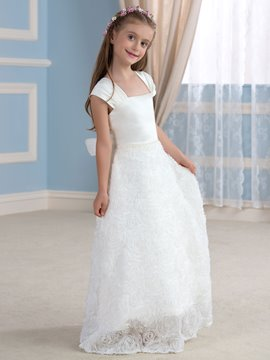 Ericdress Beautiful Square Flower Girl Dress