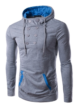 Ericdress Double-Breasted Pullover Slim Men's Hoodie