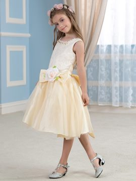 Ericdress Chic Knee Length Flower Girl Dress