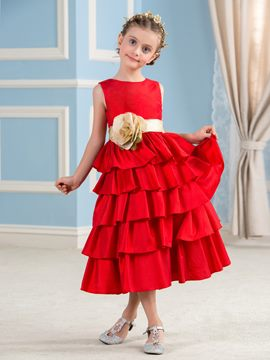 Ericdress Beautiful Tiered A Line Flower Girl Dress