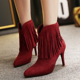 Ericdress Point Toe Fringe Martin Boots