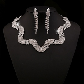 Ericdress Exaggerate Snake Shape Diamante Jewelry Set