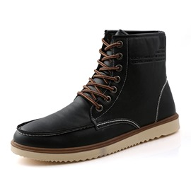 EricdressTrendy Lace up Men's Martin Boots