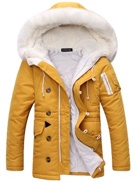 Ericdress Fur Collar Thicken Outdoor Warm Winter Men's Coat