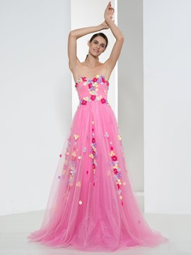 Ericdress Sweetheart Appliques Beading Sequins Prom Dress