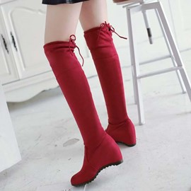 Ericdress Pretty Suede Knee High Knight Boots