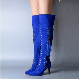 Ericdress Crossed Ties Fringe High-heel Boots