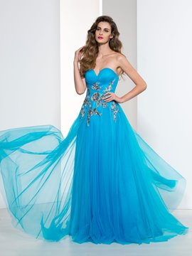 Ericdress Sweetheart Pleats Sequins Appliques Prom Dress