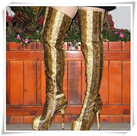 Ericdress Top Quality Patchwork Knee High Boots