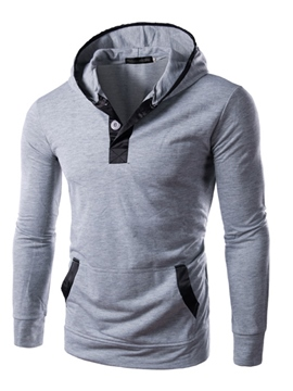 Ericdress Color Block Pullover Slim Men's Hoodie