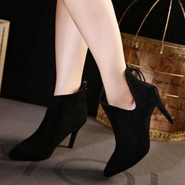 Ericdress V-shaped Point Toe High-heel Boots