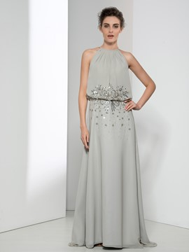 Ericdress Jewel Neck Beading Sequins Evening Dress
