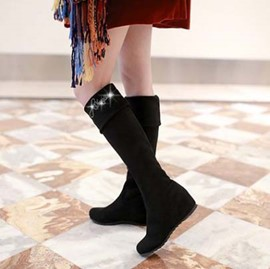 Ericdress Elegant Knee High Boots with Rhinestone