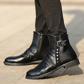Ericdress Point Toe Martin Boots with Rivets