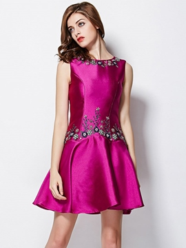 Ericdress Scoop Beading Little Party Dress