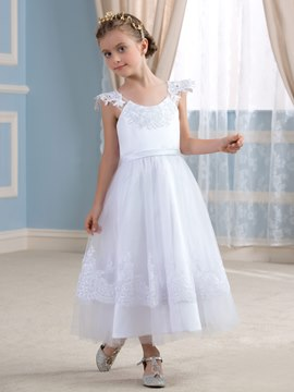 Ericdress Cute Scoop Flower Girl Dress