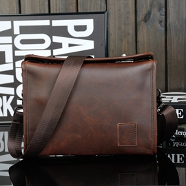 Ericdress Vintage Double Lock Men's Shoulder Bag