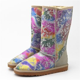 Ericdress Ethnic Colorful Print Snow Boots