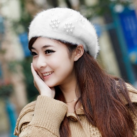 Ericdress Pearl Decorated Beret Hat