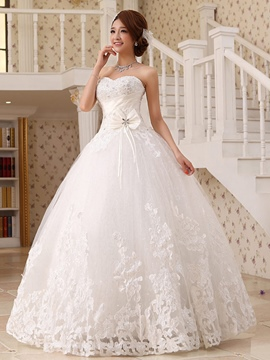 Ericdress Amazing Sweetheart Appliques Bowknot Ball Gown Wedding Dress