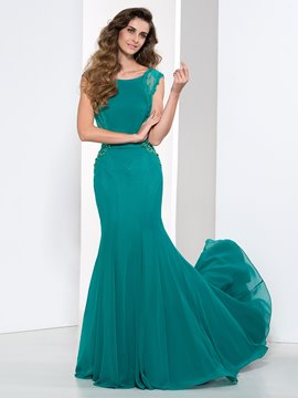 Ericdress Mermaid Appliques Beading Backless Evening Dress