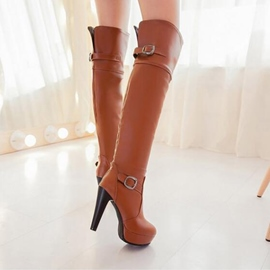 Ericdress Graceful Knee High Boots with Buckles