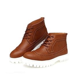 Ericdress Mid Calf Men's Brogue Boots
