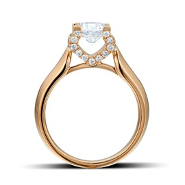 Ericdress Vogue Diamante Heart Shape Ring