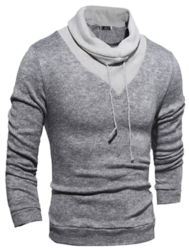 Ericdress Heap Collar Pullover Slim Men's Sweater