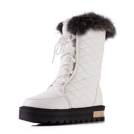 Ericdress Fashion Lace Up Mid Calf Snow Boots