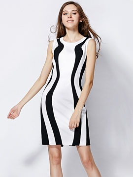 Ericdress Sheath Round Neck Little Party Dress