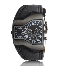 Ericdress Personality Dual Time Zone Men's Watch
