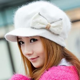 Sweet Warm Female Hat for Winter