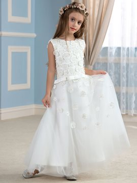 Ericdress Cute Appliques A Line Flower Girl Dress