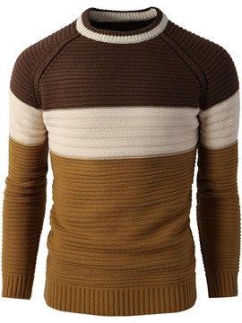 Ericdress Color Block Pullover Warm Men's Sweater