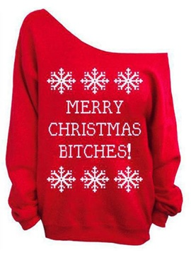 Ericdress Christmas Theme Pattern Hoodie