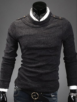 Ericdress Crewneck Pullover Warm Men's Sweater