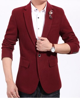 Ericdress Plain Casual Men's Blazer