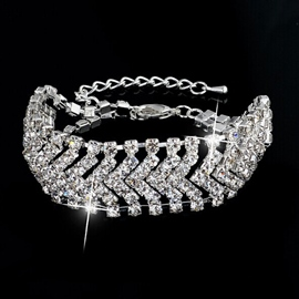 Ericdress OL Diamante V Shape Bracelet