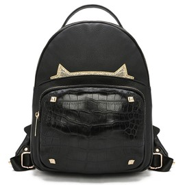 Ericdress Vogue Crocodile Cat Backpack