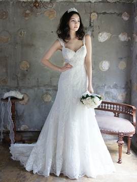 Ericdress Pretty Straps A Line Wedding Dress