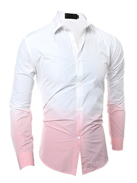 Ericdress Gradient Vogue Slim Men's Shirt