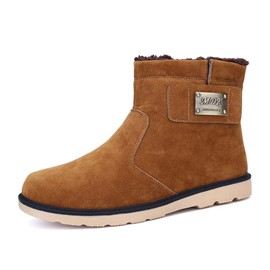 Ericdress Suede Slip on Men's Snow Boots