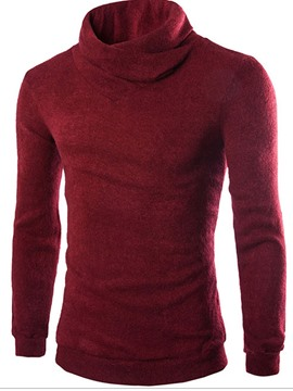 Ericdress Plain Heap Collar Warm Men's Sweater