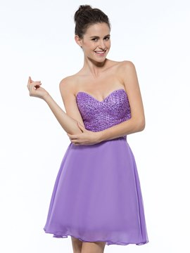 Ericdress Sweetheart Beading Short Homecoming Dress