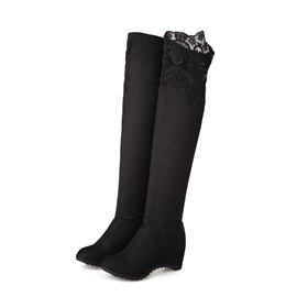 Ericdress Lace Over Knee High Boots