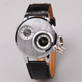 Ericdress Trendy Steel Double Time Quartz Watch
